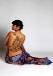 modern Henna back design Saras Henna