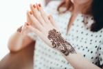 Indian Henna hand design Saras Henna
