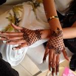 Henna design lace glove Saras Henna