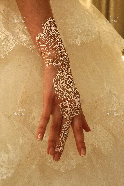 White Henna design Saras Henna
