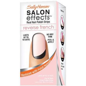 sally hansen salon effects nail wraps reverse french