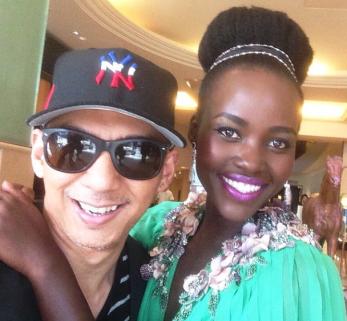 Nick Barose Lupita Nyongo makeup cannes lancome