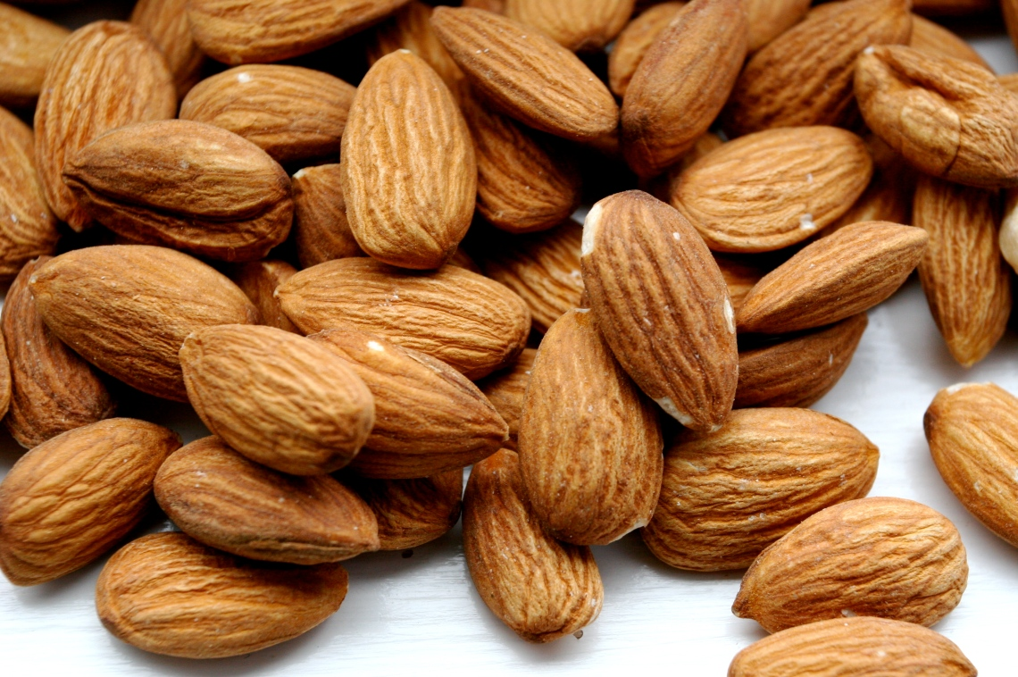 almonds peeling nails oil
